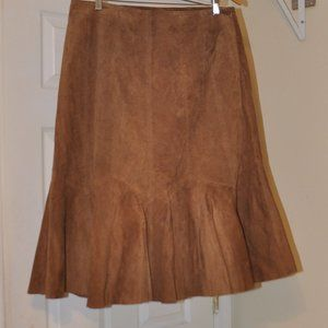 Jessica London Leather Skirt Lined 14